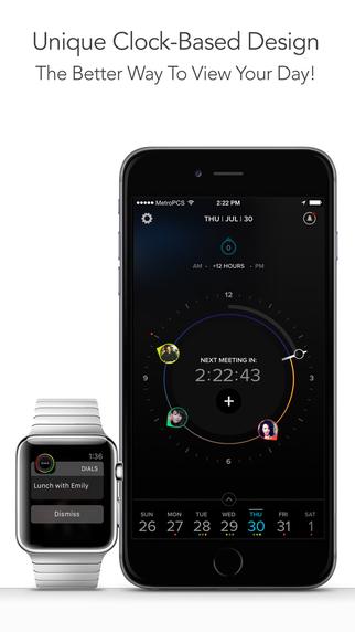 Dials – Clock-based Calendar App with Sync