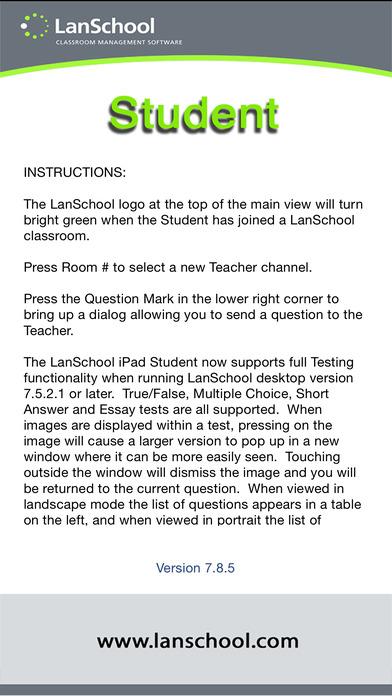 LanSchool Student for iPad iPhone Screenshot 1