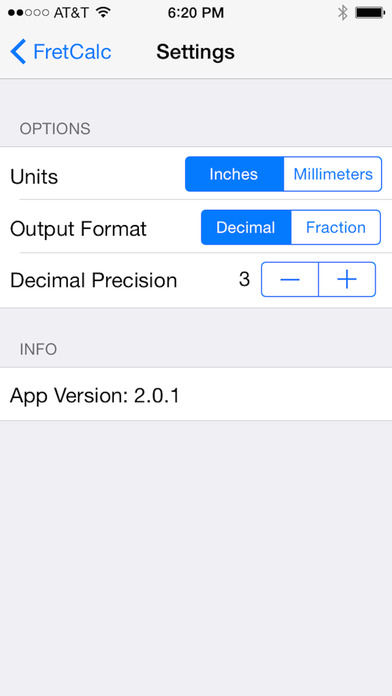 FretCalculator iPhone Screenshot 2