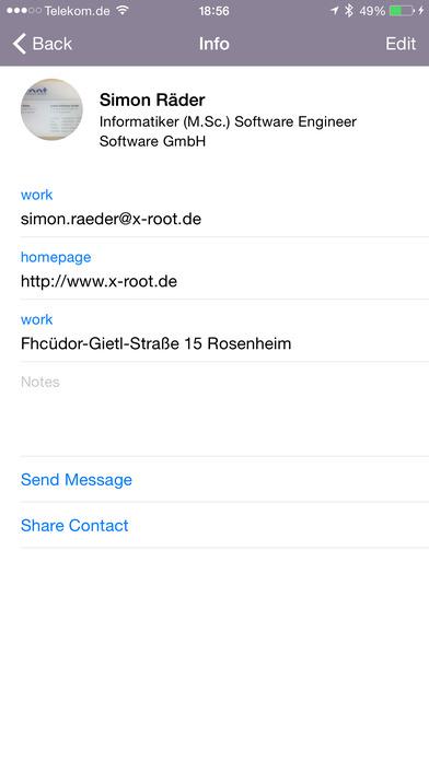 Cardreader - mobile OCR Business Card Reader & Scanner iPhone Screenshot 2