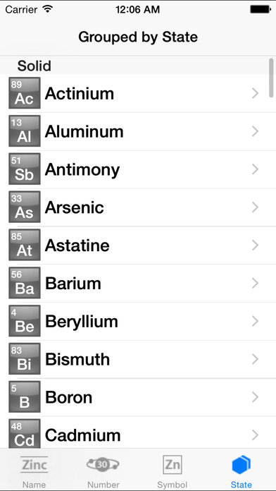 The Elements With Wikipedia iPhone Screenshot 2