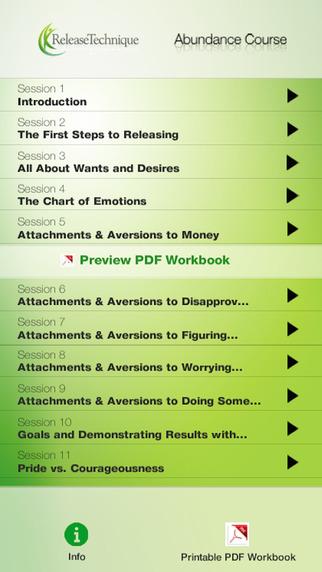 Abundance Course by Release Technique LP