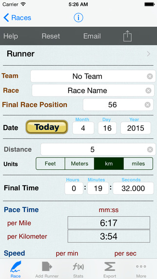 Running Calculator with Racing Jogging Pace Logbook with Race Notes