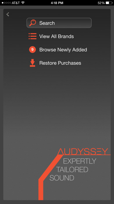 Audyssey Music Player Screenshot