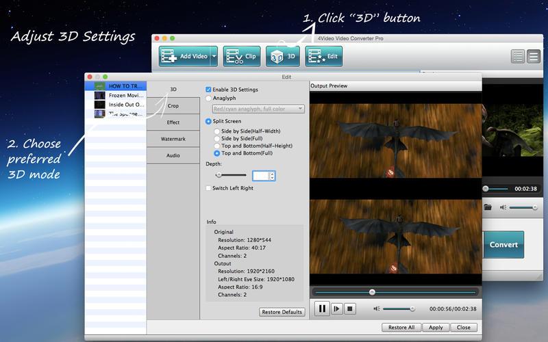 4Video Video Converter Pro Screenshot - 2