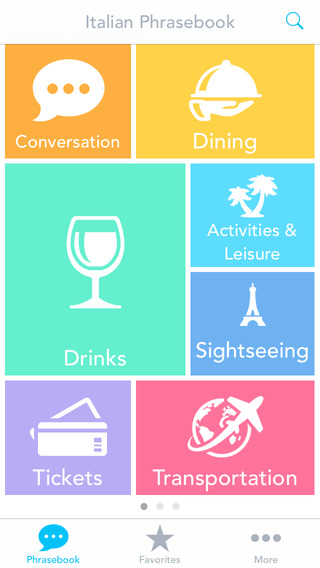 Italian Phrasebook with Voice: Translate Common Words and Phrases for Travel by Odyssey Translator