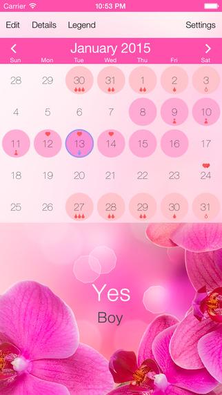 Pink Ovulation Calendar - Free Conception Pregnancy Calculator