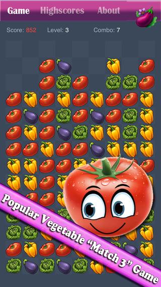 Vegetable Blast Mania - smash hit farm vegetable crush heroes game free