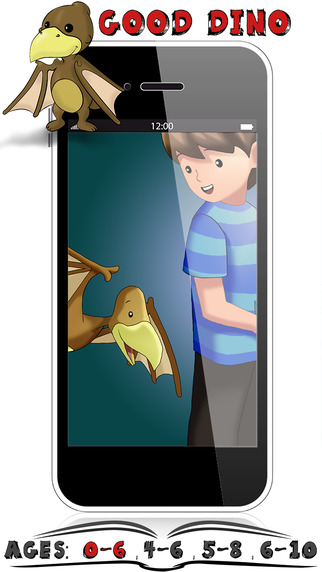 Dino Animals Ages 0-6 Kids Stories By Appslack - Interactive Childrens Reading Books
