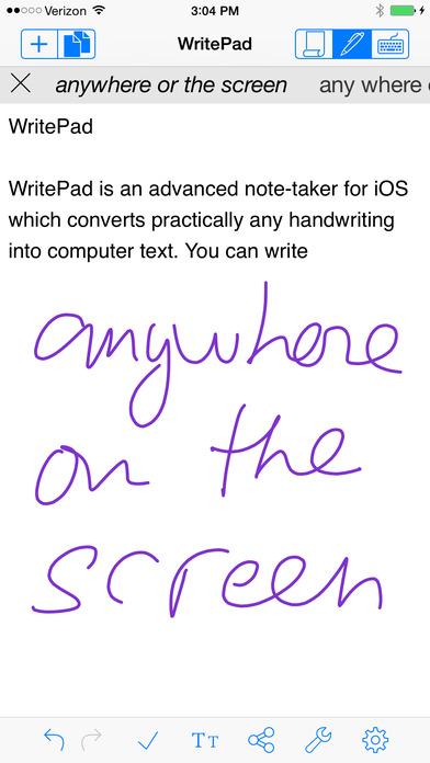 WritePad iPhone Screenshot 1