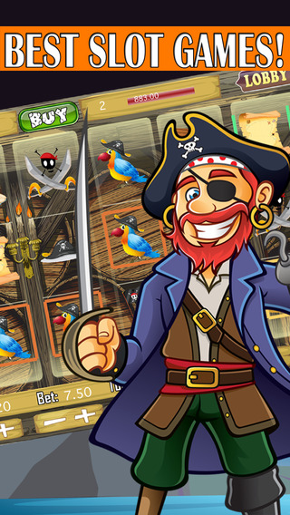 Pirate Slots - King of Treasure Casino fantasy :Fr