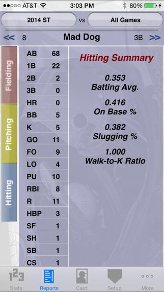 StatCatcher™ Softball (Player Edition) iPhone Screenshot 3