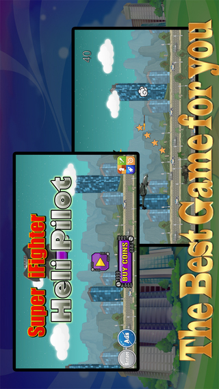 Super iFighter Heli Pilot Free - Fun Flying and Shooting Air Combat Game