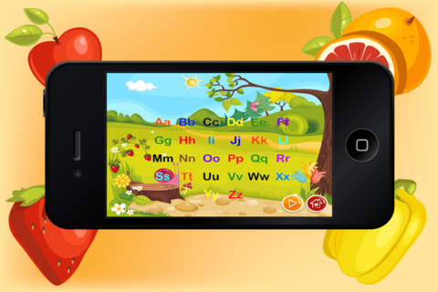 Baby Flash Cards ABC Fruits - Learning game for Kids in Preschool, K12 & Kindergarten screenshot 4