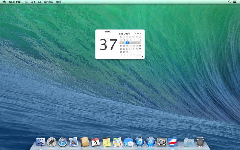 Week Pop - 计算当前日期是第几周[OS X]丨反斗限免