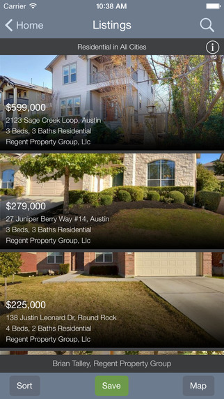 Austin Home Search App for iOS - Regent Property Group
