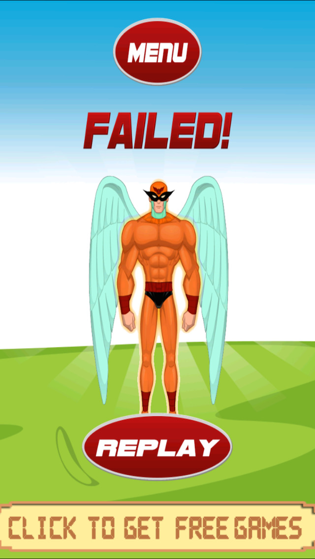 Flying Bird-Man Slider - A Super-Hero Adventure In A Crazy Star City FREE by The Other Games