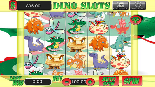 AAA Dinosaur Amazing Classic Casino 3 games in 1 - Slots Blackjack and Roulette