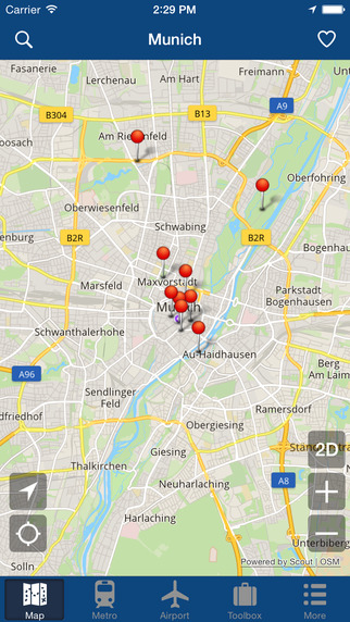Munich Offline Map - City Metro Airport Screenshots