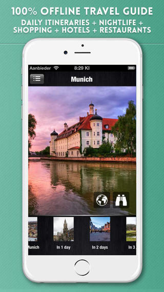 Munich Travel Guide with Offline City Street and Metro Maps