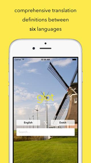 Glot - Multilingual Translation Dictionary for English Dutch Spanish French German and Swedish