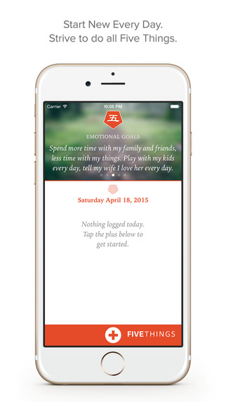 FiveThings — A Daily To-Be App For Making Achieving Goals