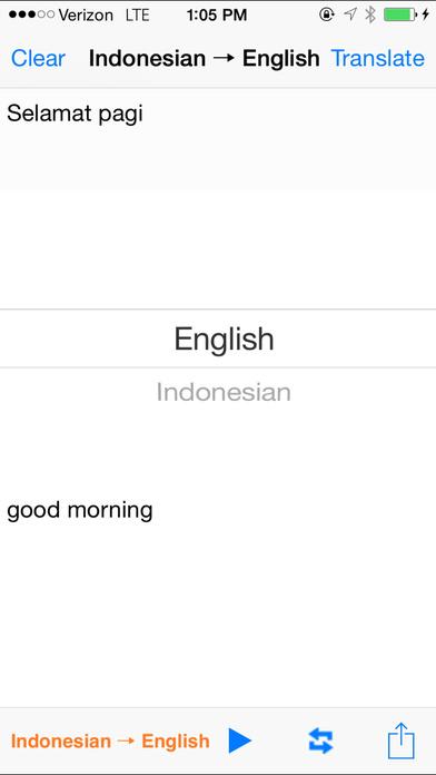 English Indonesian Translator with Voice iPhone Screenshot 2