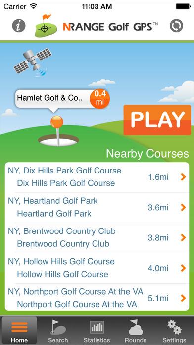 nRange golf GPS iPhone Screenshot 1