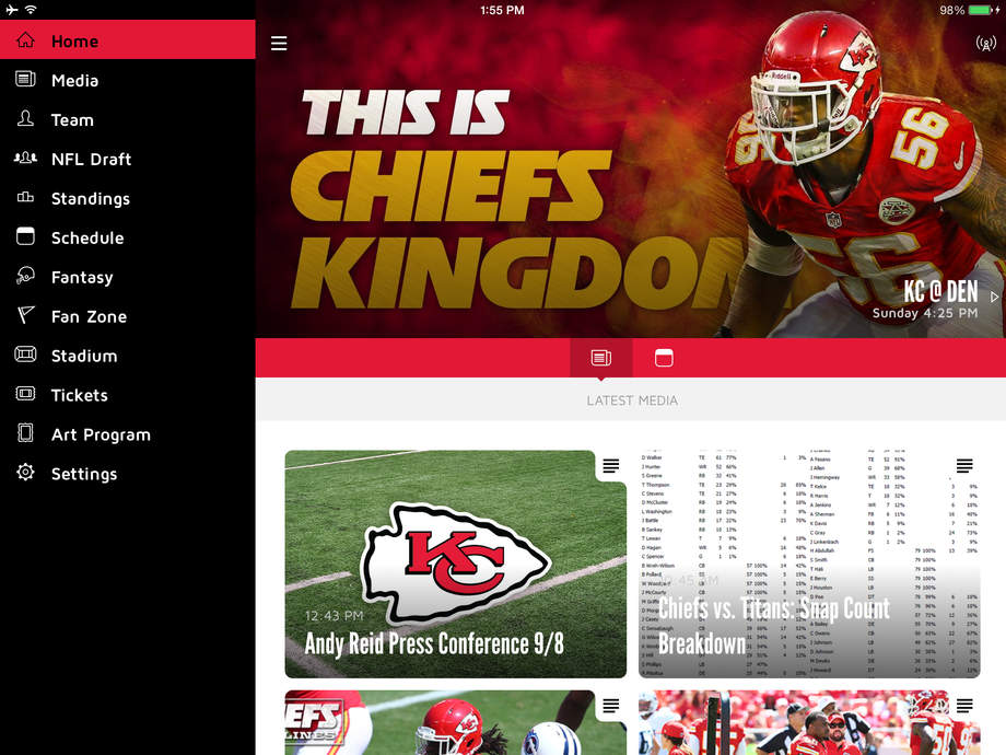 Chiefs Mobile - iPhone Mobile Analytics and App Store Data