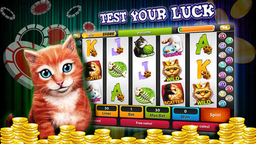 A Cool Cats Casino Video Slots Vegas Best Ultimate Luck-y Golden Coin Machine