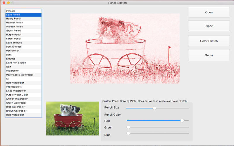 PencilSketchApp Screenshot - 2