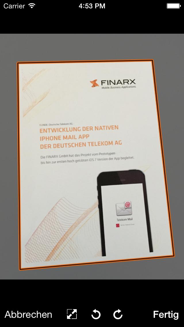 FINARX Fax für web.de