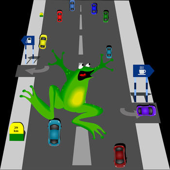 Frog cross the road@free game 遊戲 App LOGO-硬是要APP