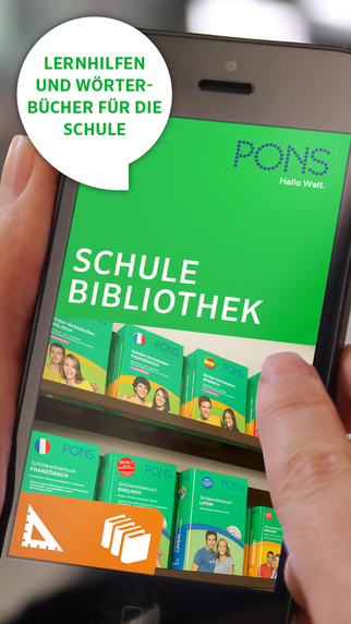 PONS School Library – dictionary and study aid for many languages