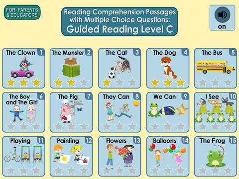 Reading Comprehension Passages with Multiple Choice Questions ~ Guided Reading Level C