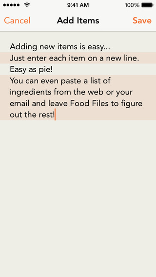 Screenshots for Food Files - a Place for Your Recipes
