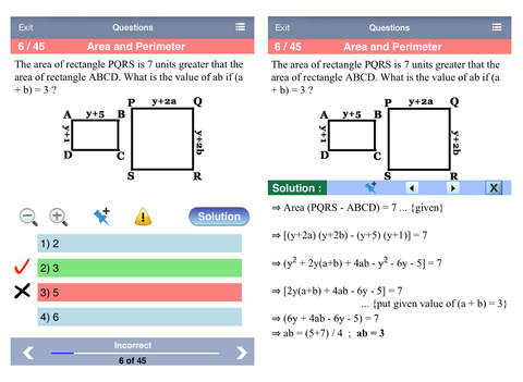 ACT Math Aptitude iPad Screenshot 2