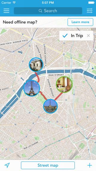 Paris Offline Map Guide by Tripomatic