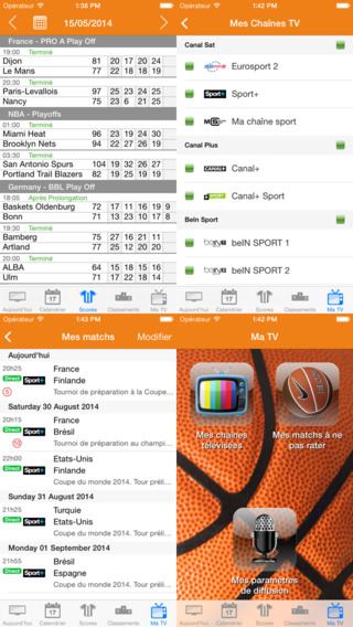 Basket TV iPhone Screenshot 2