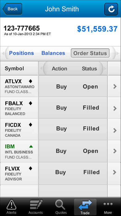 WealthCentral Mobile iPhone Screenshot 4
