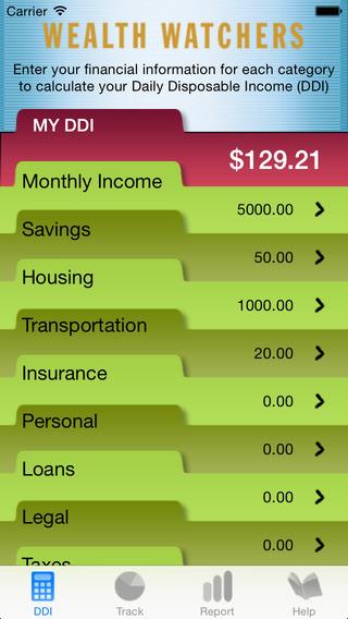 Wealth Watchers iPhone Screenshot 2