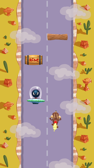 Cartoon Racer - Rocket Road Runner Extreme
