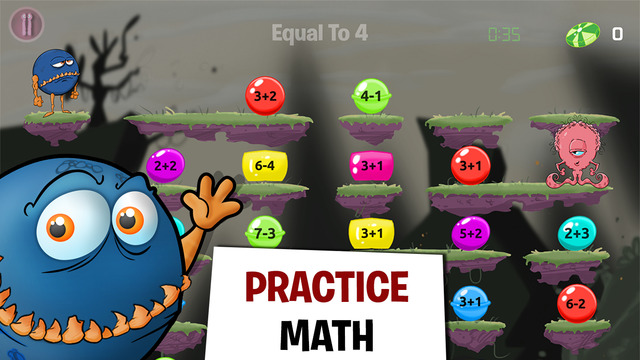 Monster Math - Free Fun Math Game - Learning Addition Subtraction Multiplication and Division