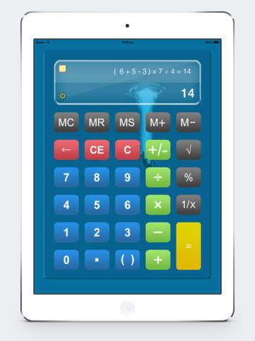 Калькулятор HD % бесплатно - Основные Calculater App Pro с Formula Показать & Notable бумажные ленты для Ipad , Iphone и Ipod Скриншоты7