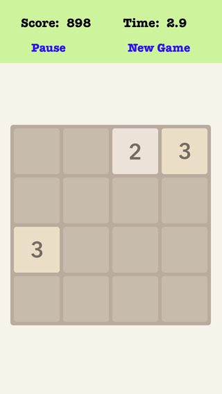 Number Merge Fibonacci 4X4 - Merging Number Blocks And Playing With Piano Music