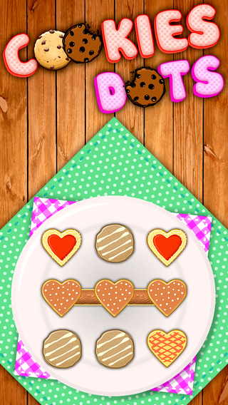 Amazing Cookies Dots : Match the hot cookies create big chain free puzzles