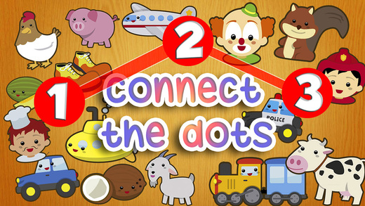 Connect the dots. Letters and numbers