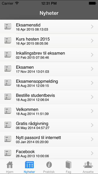 Akademiet privatist iPhone Screenshot 2