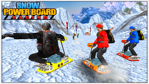 Snow Powerboard Racing 3D Speed Sports Power board stunts racing offroad game on Fast ice road track