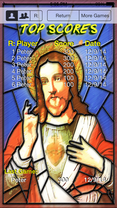 Jesus's Bible Quiz iPhone Screenshot 5